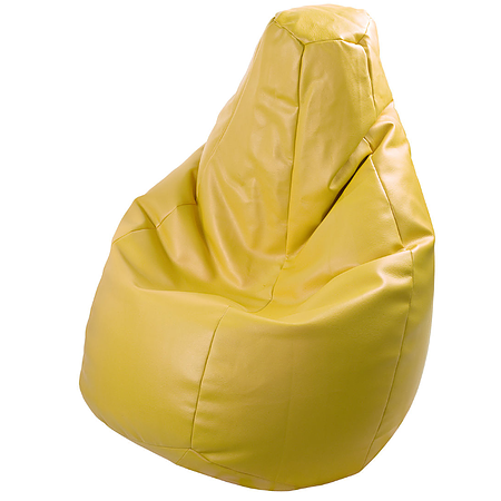 BEANBAG armchair LOLITA ECO LEATHER YELLOW