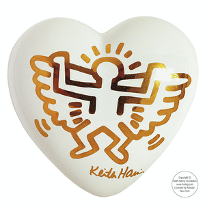Heart Keith Haring ANGEL WHITE