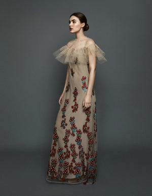 Nude Dress Red Flowers(Nephilim)