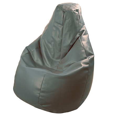 BEANBAG armchair LOLITA ECO LEATHER GREY