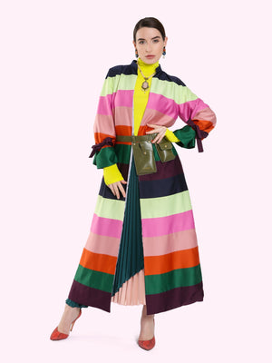 QUILTED FABRIC MULTICOLOR JACKET