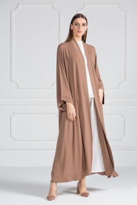 COLORED ABAYA ORDERS - Affogato (AM11)
