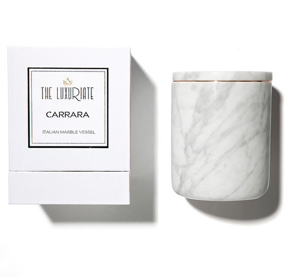 THE LUXURIATE - CARRARA MARBLE CANDLE HOLDER
