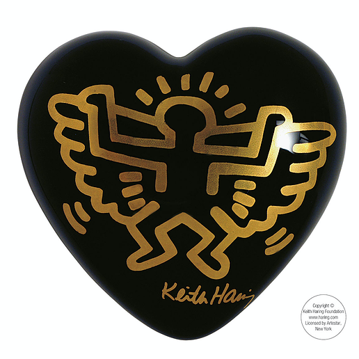 Heart Keith Haring ANGEL BLACK
