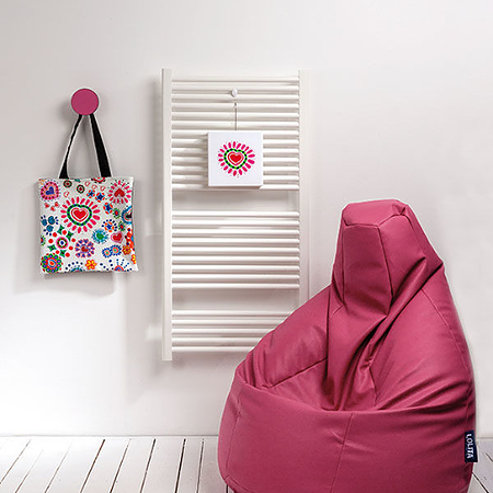 BEANBAG armchair LOLITA ECO LEATHER FUCSIA
