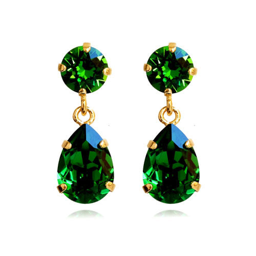 MINI DROP EARRINGS/ EMERALD