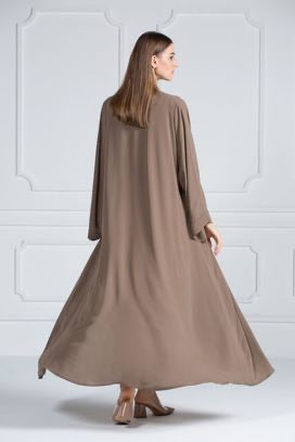 COLORED ABAYA ORDERS - Espresso Parfait (AM12)
