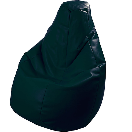 BEANBAG armchair LOLITA ECO LEATHER BLACK