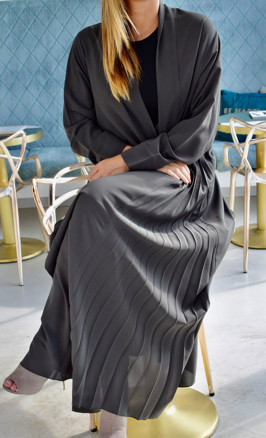 BEYOU -  SIDE PLEATED ABAYA