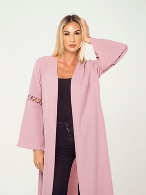 CRISSCROSS ARTICULATED SLEEVELESS CAPE