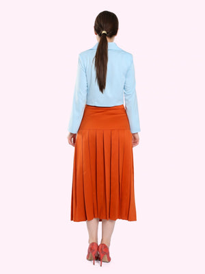 VINTAGE STYLE BOX PLEAT SKIRT