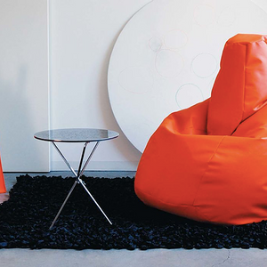 BEANBAG armchair LOLITA ECO LEATHER ORANGE