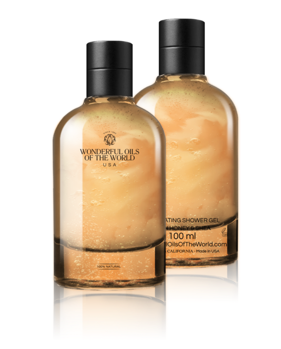 EXFOLIATING SHOWER & BATH  GEL WITH HONEY &SHEA
