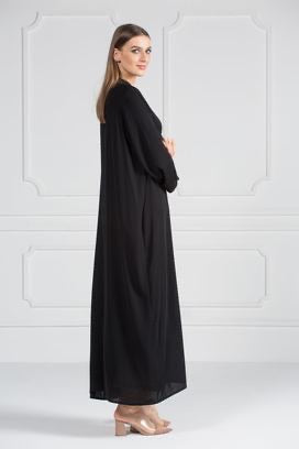 COLORED ABAYA ORDERS - Black (AM7)
