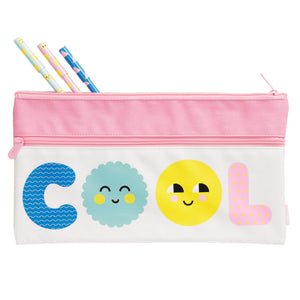 PENCIL CASE LARGE SMILE MUSK PINK