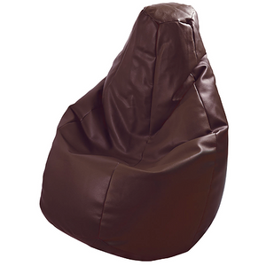 BEANBAG armchair LOLITA ECO LEATHER BROWN