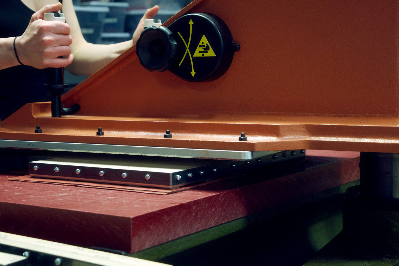 Cutting the No. 12 Leather Tote in the Lotuff studio
