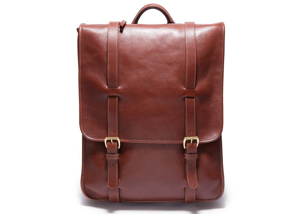 Lotuff's Leather Backpack in chestnut