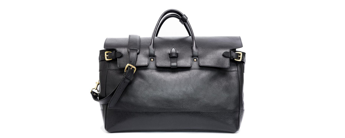 Lotuff Leather Day Satchel in Black