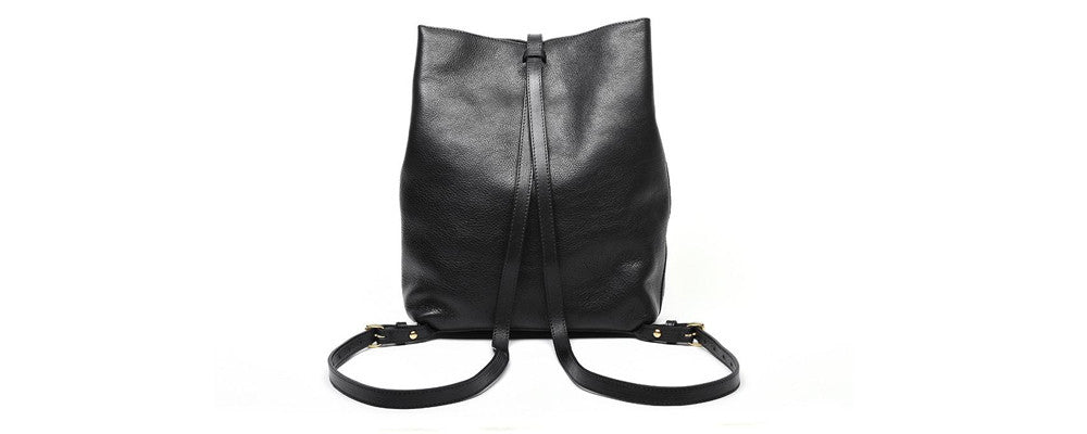 Lotuff Leather Sling Backpack in black