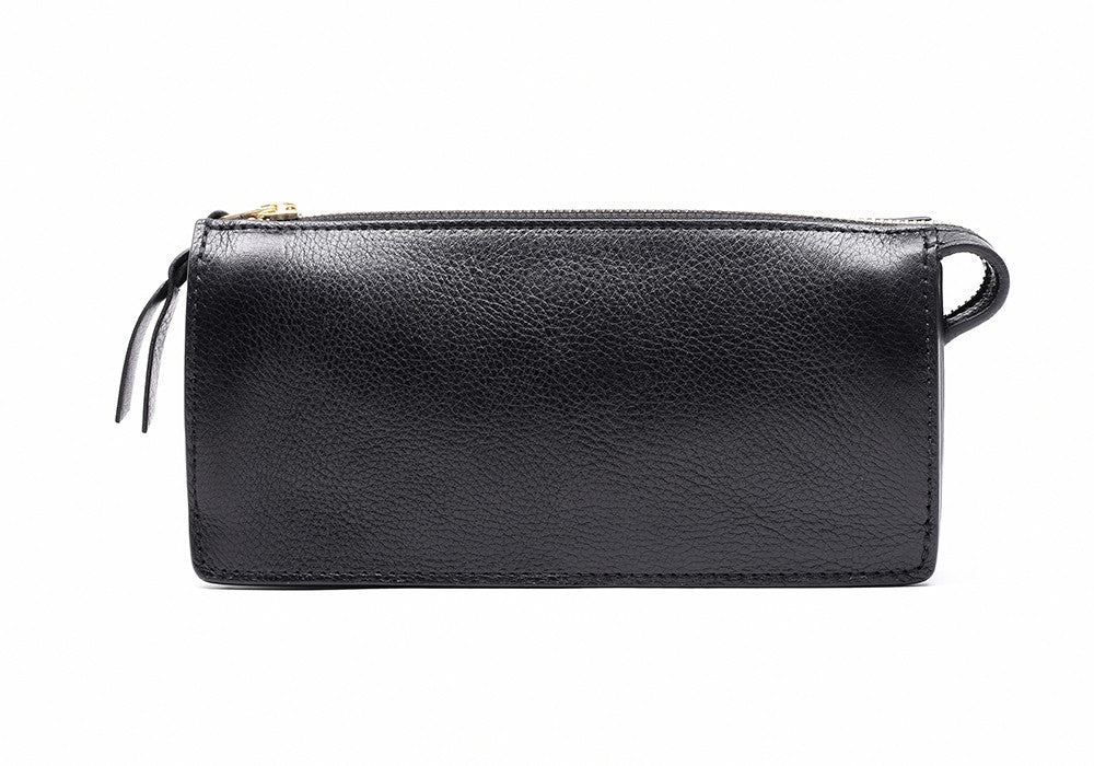 Women's Leather Wallet Black|Front Leather View