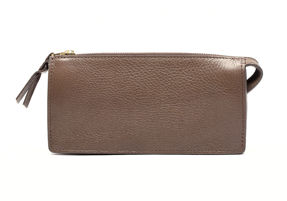 Women's Leather Wallet Clay|Front Leather View