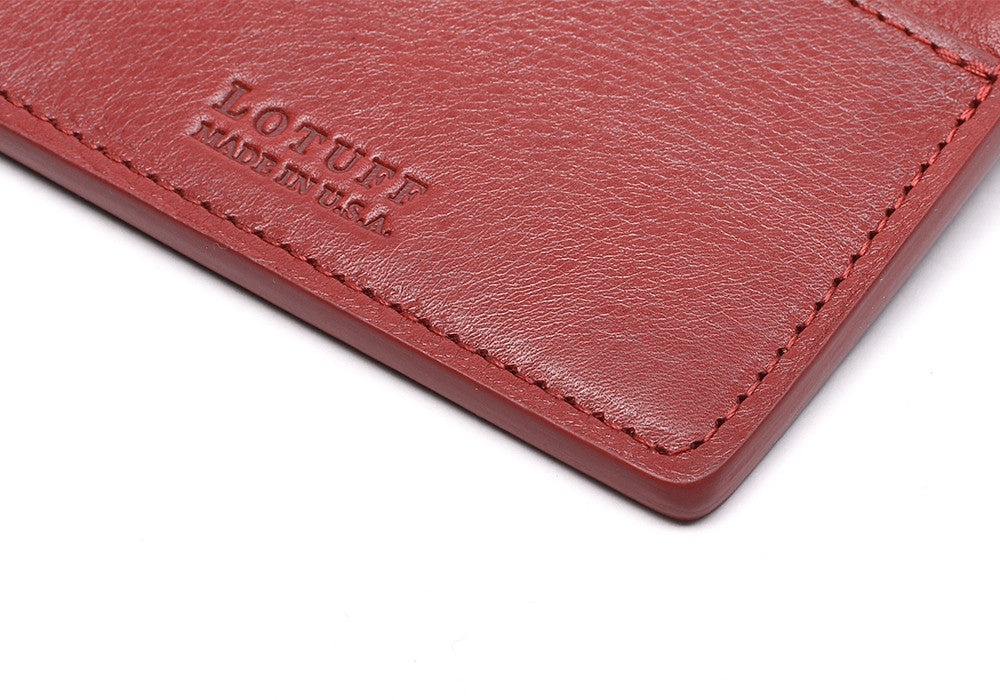 Zipper Credit Card Wallet Red