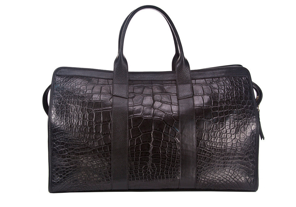 American Alligator Duffle Travel Bag Black