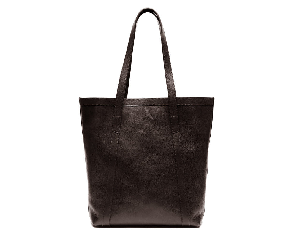 Front View of Angle Tote Chocolate
