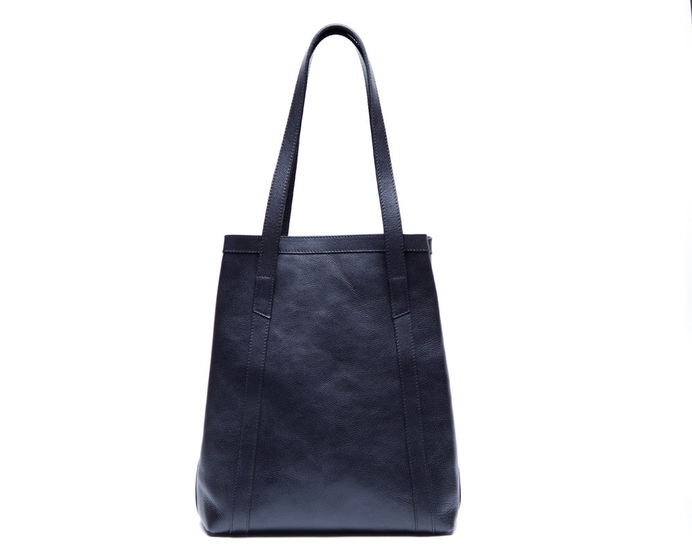 Back View of Angle Tote Navy