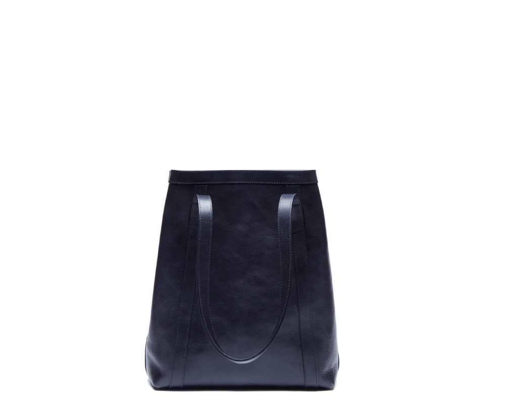 Front View of Angle Tote Navy