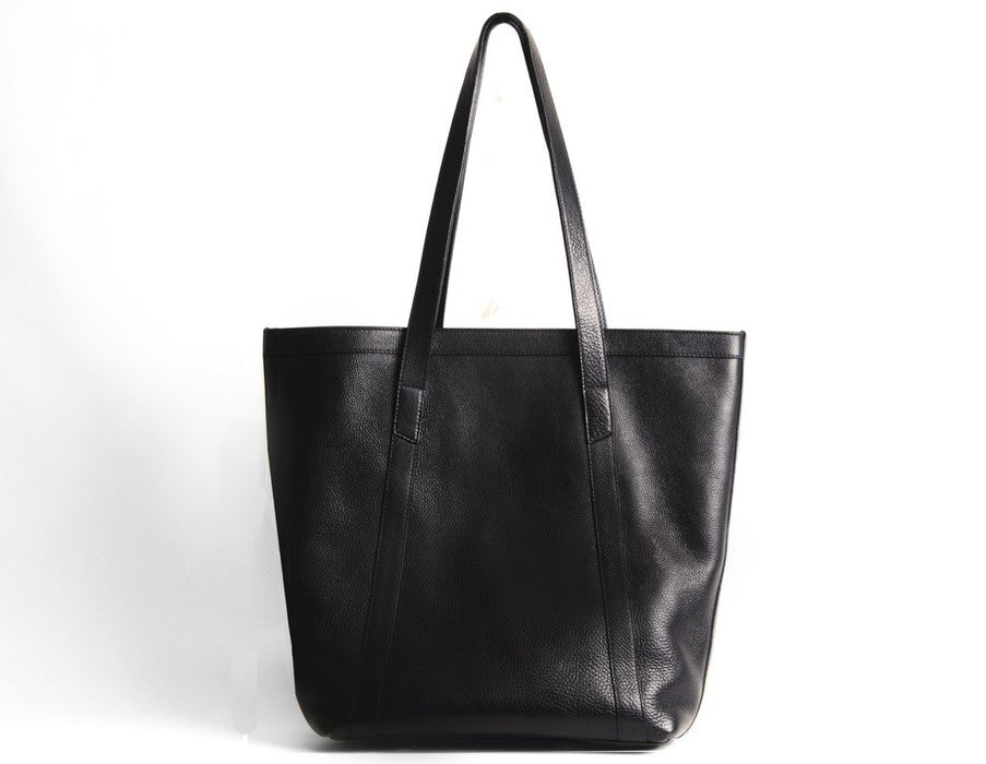 Front View of Angle Tote Black