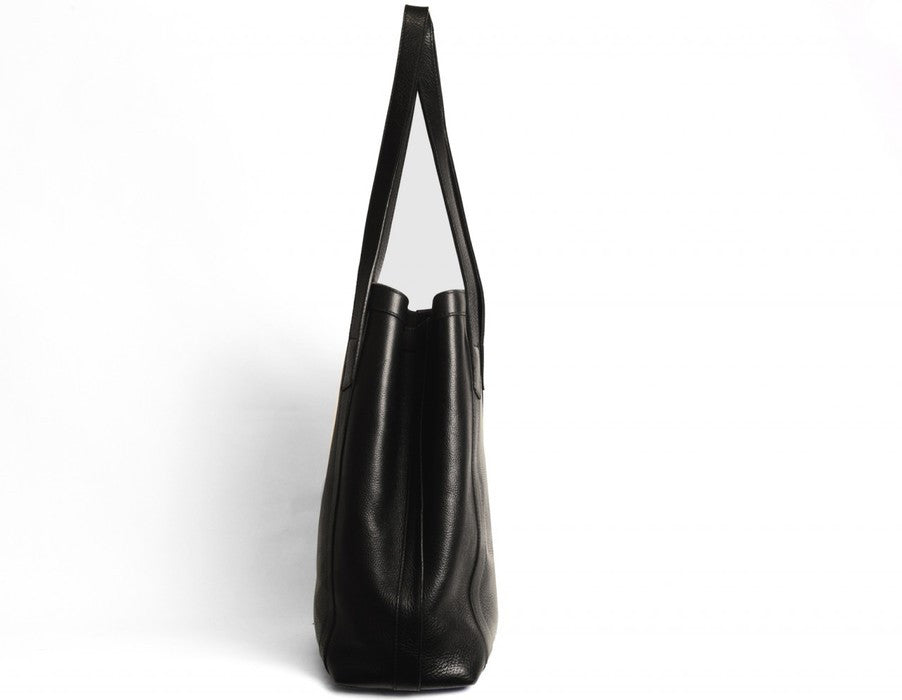 Side View of Angle Tote Black