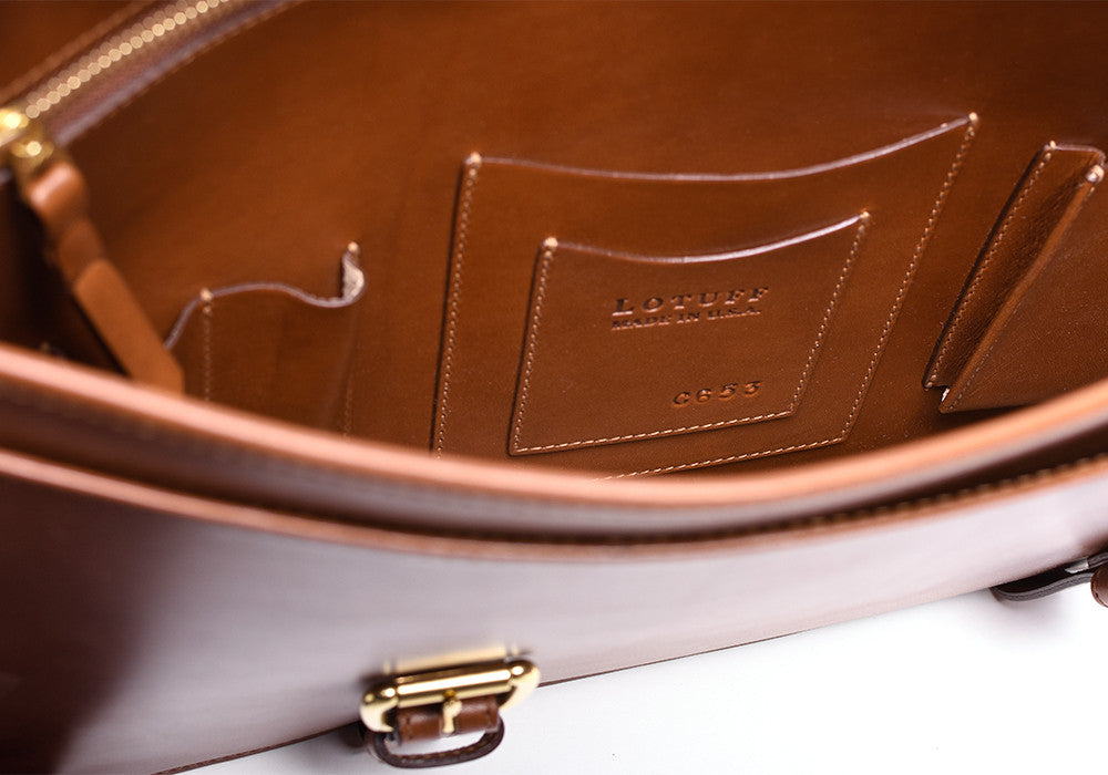 Bridle English Briefcase Cognac Bridle