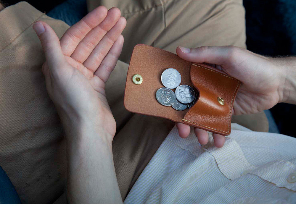 Leather Coin Wallet Lifestyle
