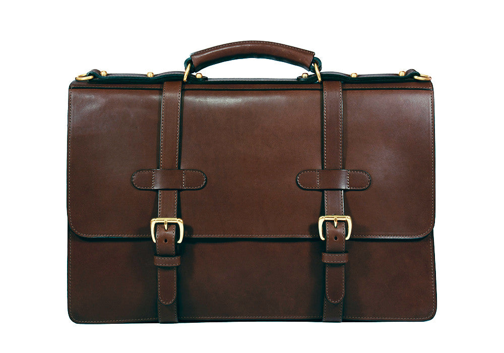 Bridle English Briefcase Chocolate Bridle
