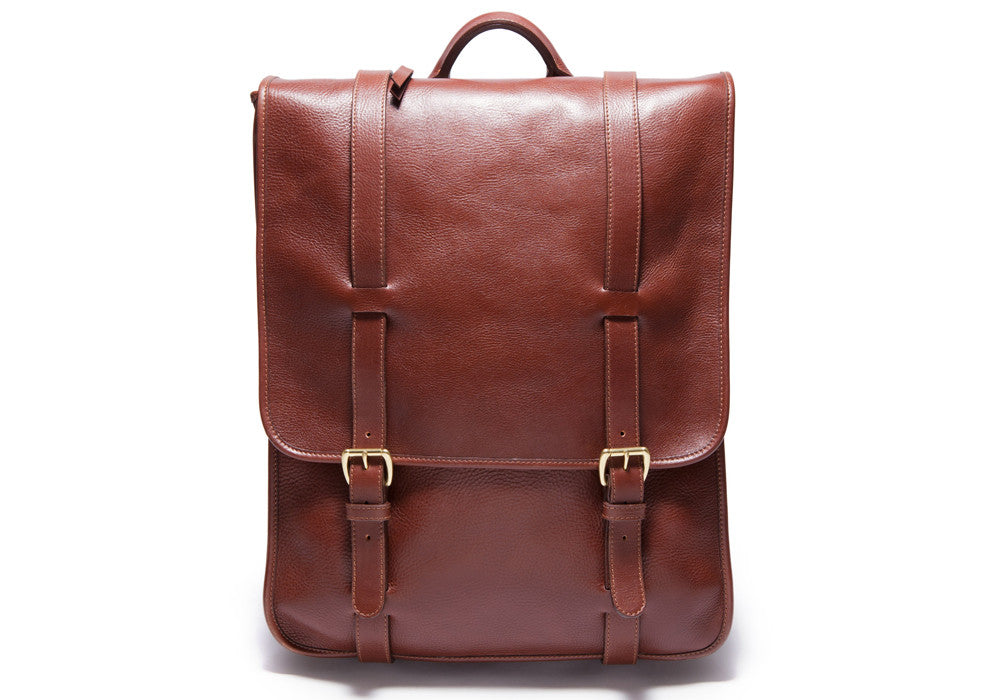 Leather Backpack Chestnut|Front View