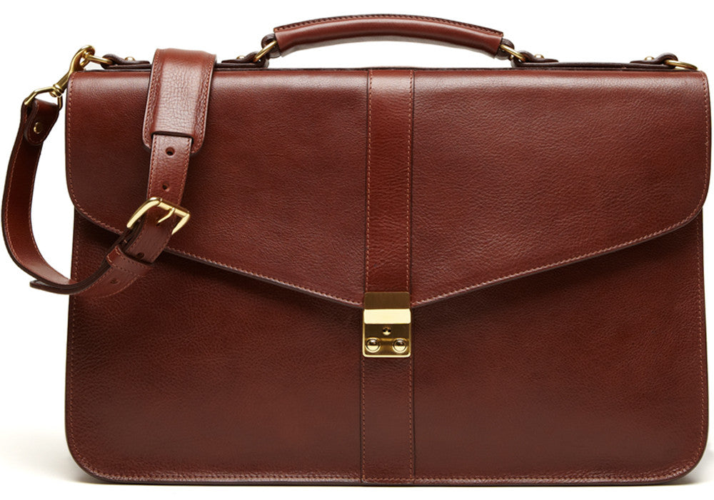 Leather Lock Briefcase Leather Lock Briefcase