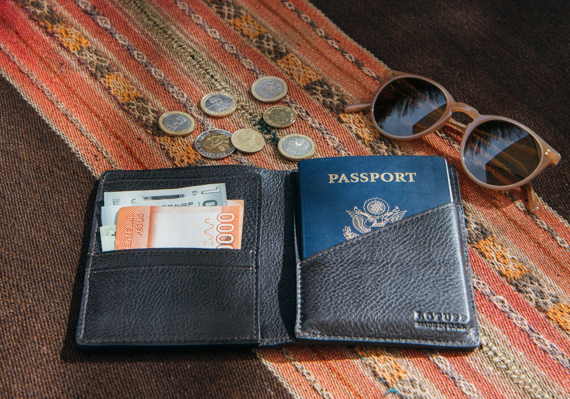 Leather Passport Wallet Lifestyle