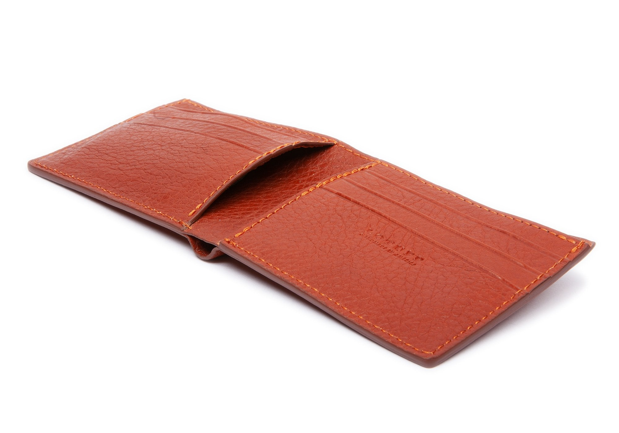 Leather Bifold Wallet Saddle Tan