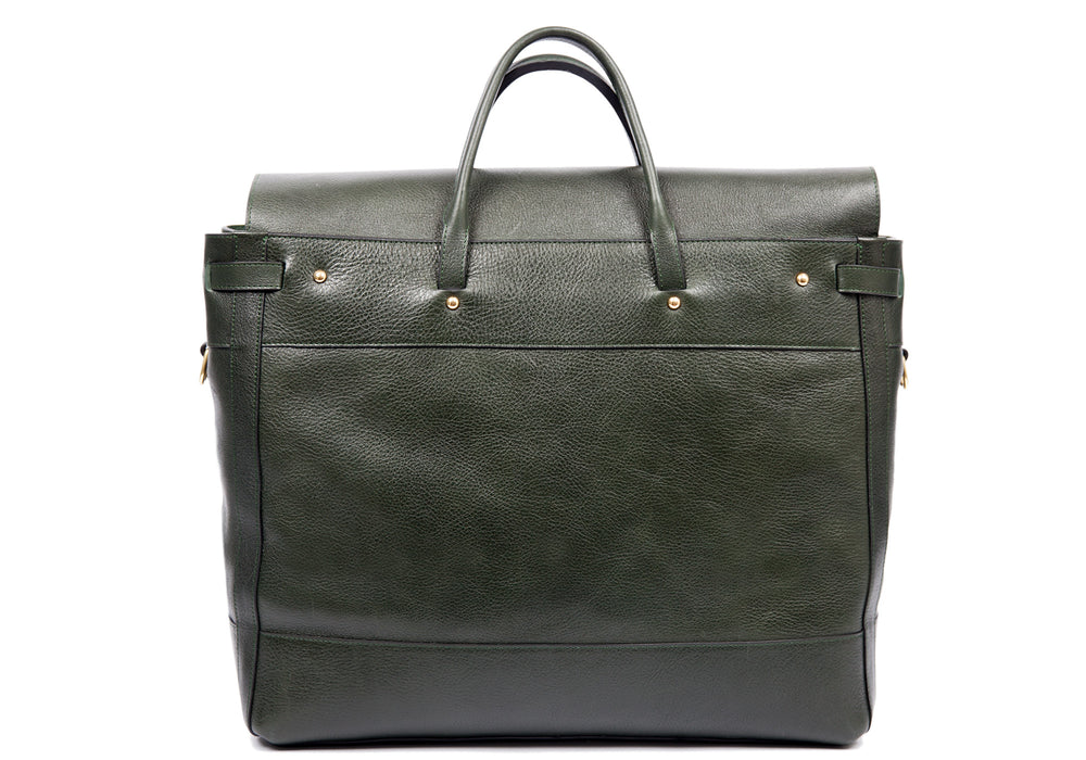 Back View of Leather Day Tote Green