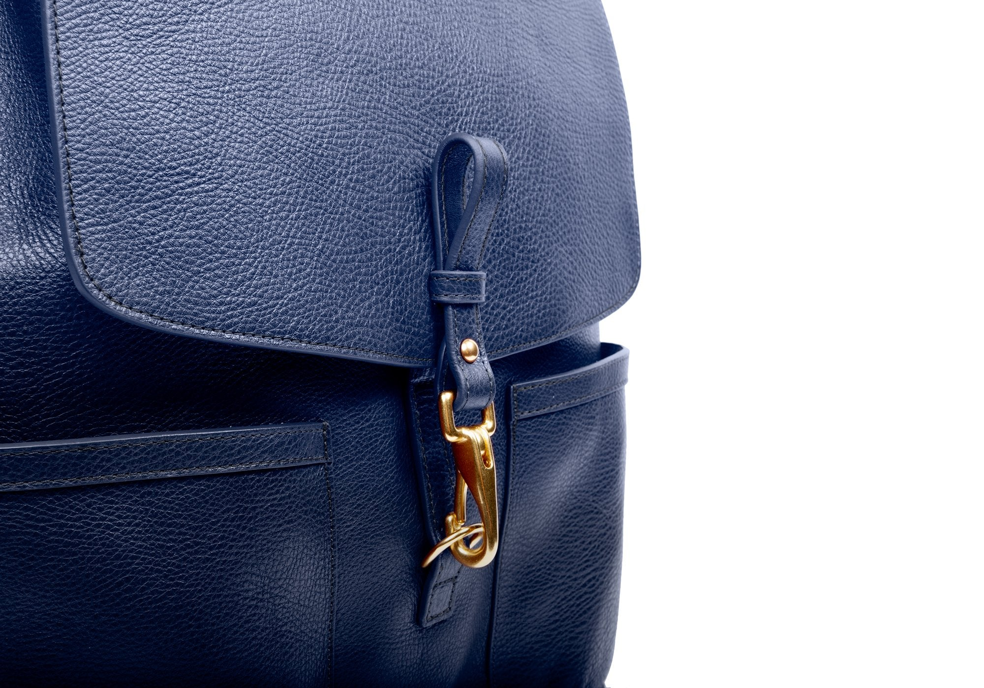 Leather Knapsack Indigo