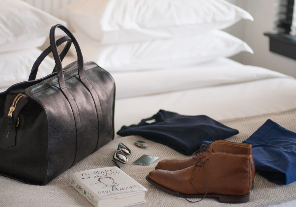 Leather Duffle Travel Bag Lifestyle