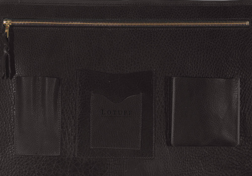 Leather Lock Briefcase Chocolate