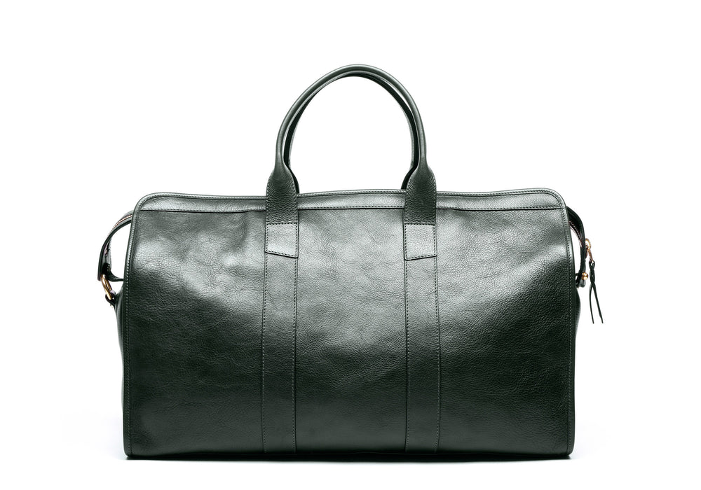 Leather Duffle Travel Bag Green