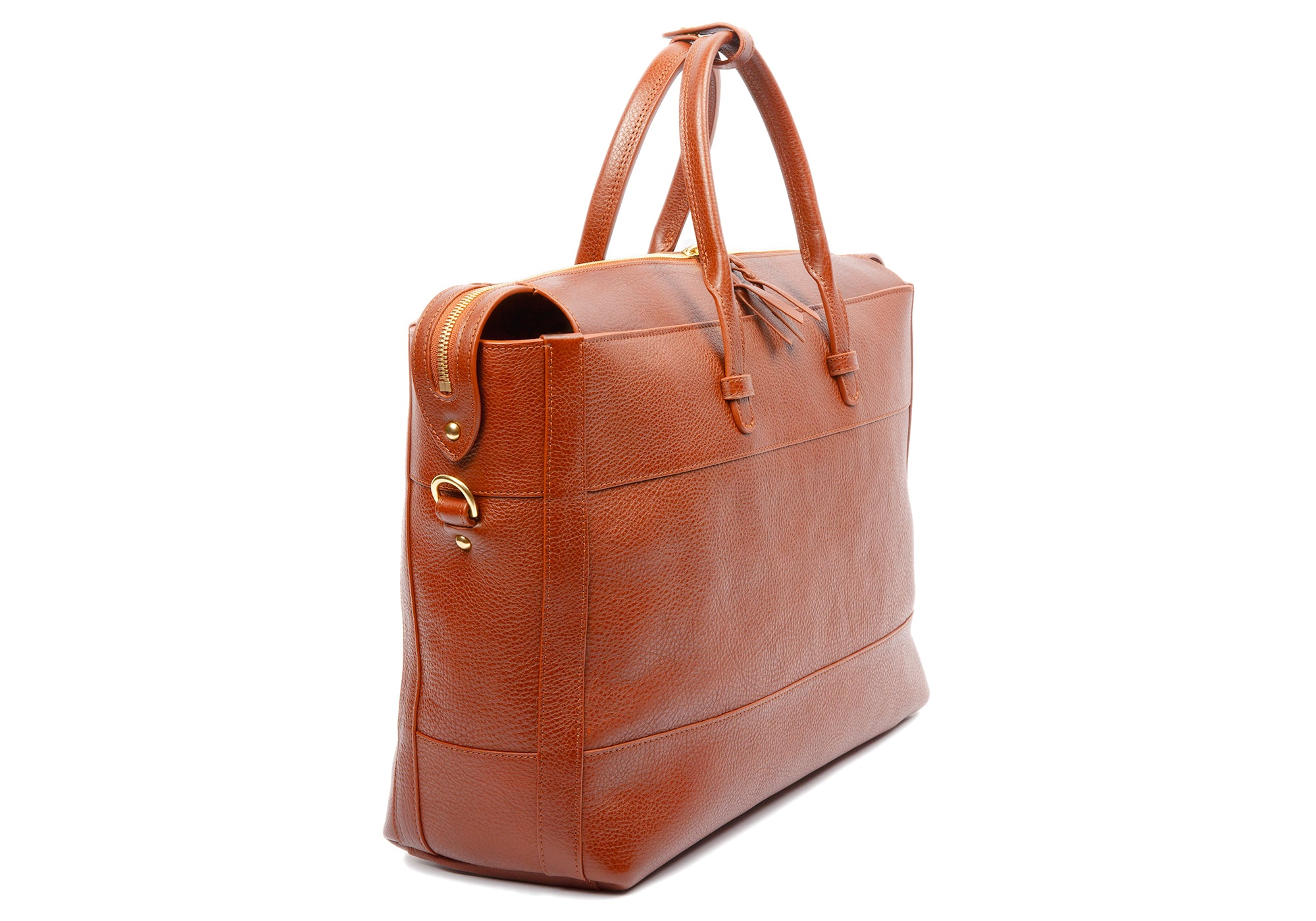 The 929 Briefcase Saddle Tan