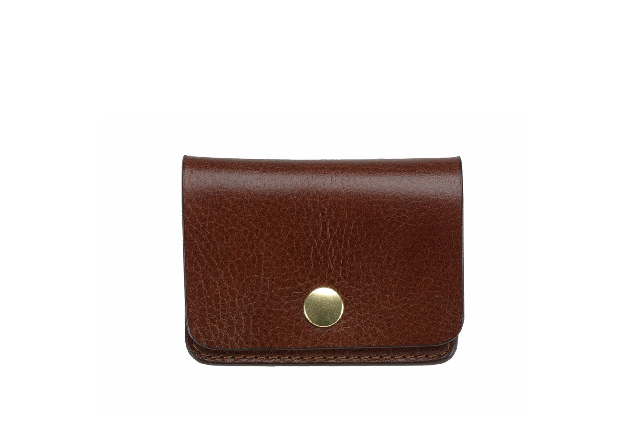 Leather Coin Wallet Chestnut|Front View