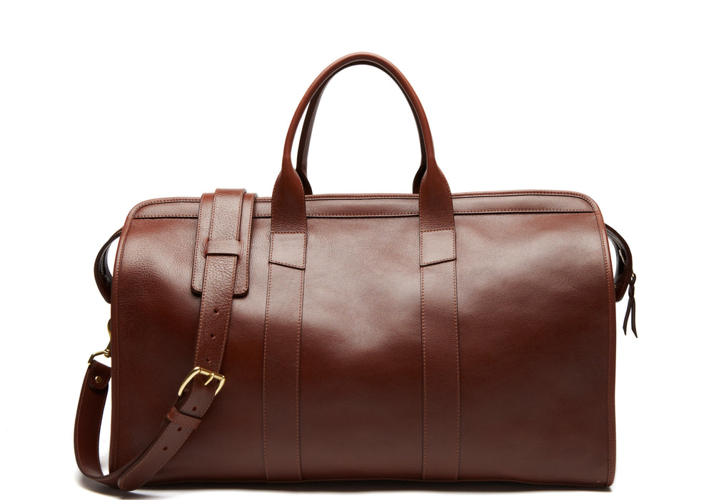 Leather Duffle Travel Bag Chestnut|Front View