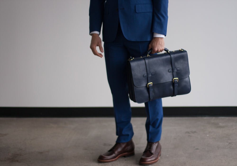 English Leather Briefcase Lifestyle