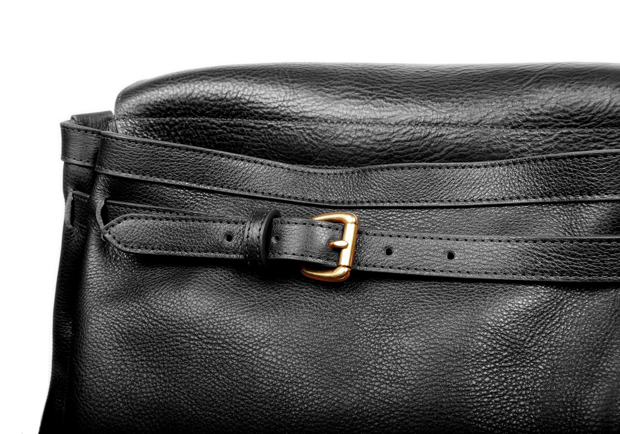 Leather Knapsack Black